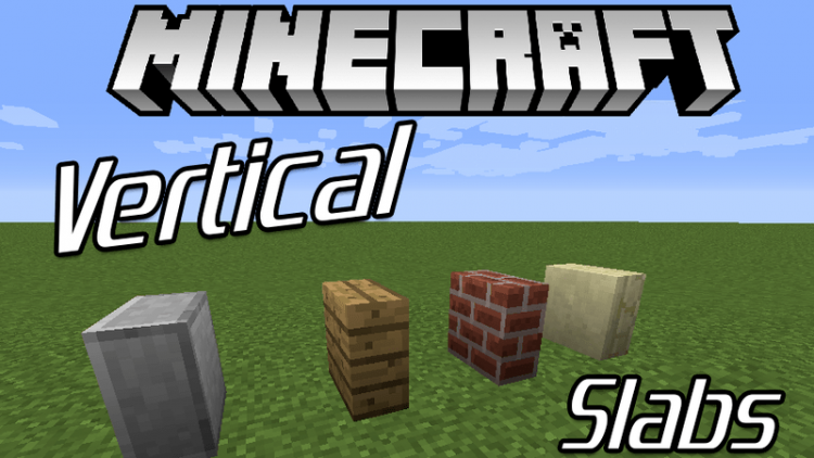 vertical slabs mod for minecraft logo