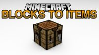 Blocks 2 Items Mod for minecraft Logo