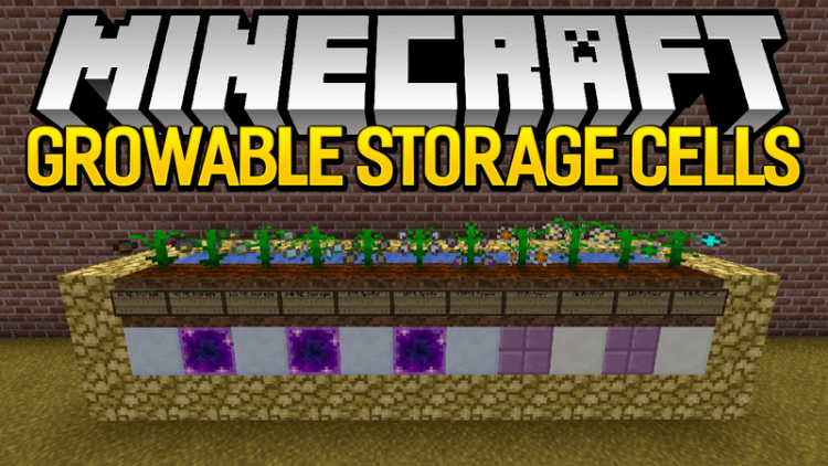 Growable Storage Cells mod for minecraft logo