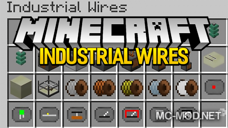 Industrial Wires mod for minecraft logo