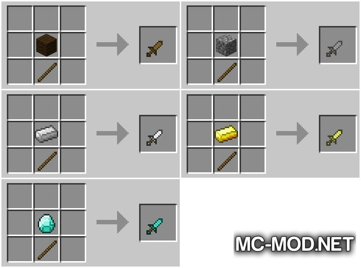 JustDaggers Mod for Minecraft 3