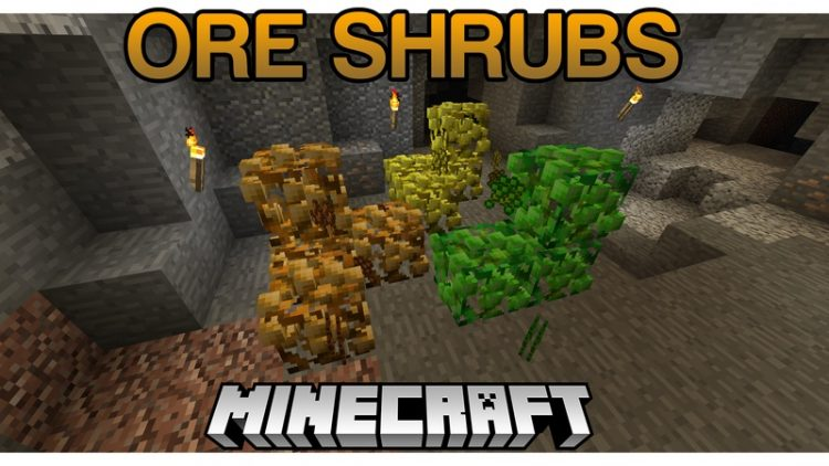 Ore Shrubs Mod for minecraft logo