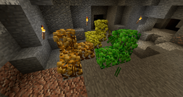 Ore Shrubs Mod for minecraft3