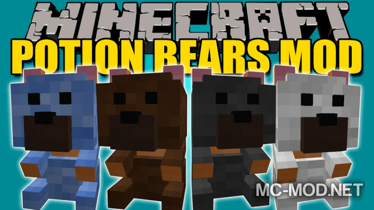 Potion Bears mod for minecraft logo