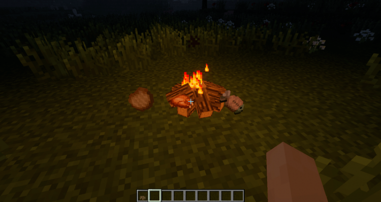 Simple Camp Fire mod for minecraft 03