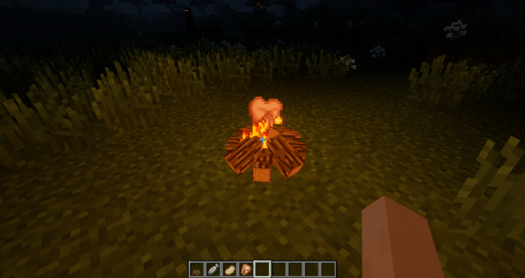 Simple Camp Fire mod for minecraft 04