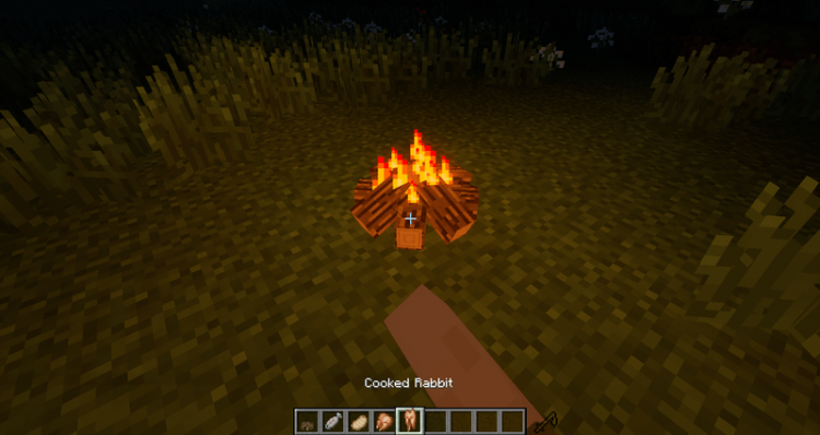 Simple Camp Fire mod for minecraft 05