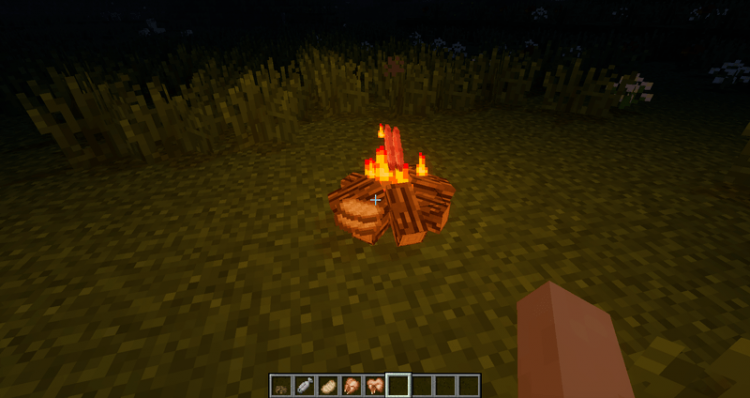 Simple Camp Fire mod for minecraft 06