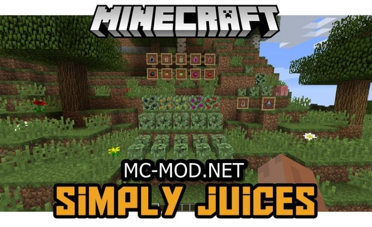 Simply Juices Mod for minecraft Logo