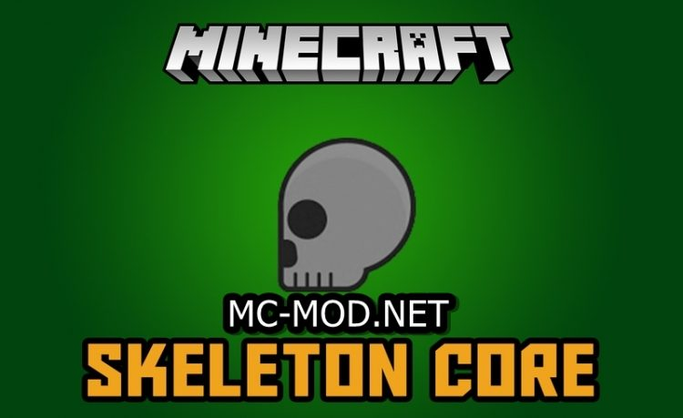 Skeleton mod for minecraft logo