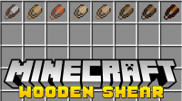 wooden shears mod for minecraft logo
