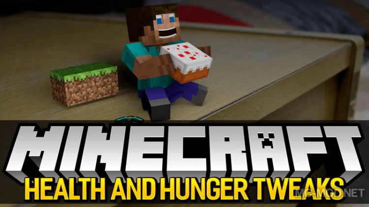 Health and Hunger Tweaks mod for minecraft logo