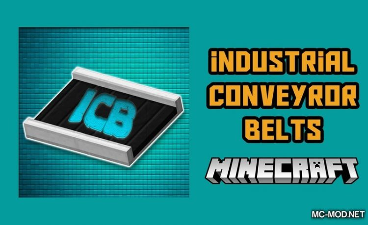 Industrial Conveyor Belts Mod for Minecraft Logo