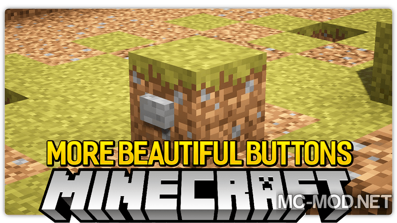 More Beautiful Buttons mod for minecraft logo