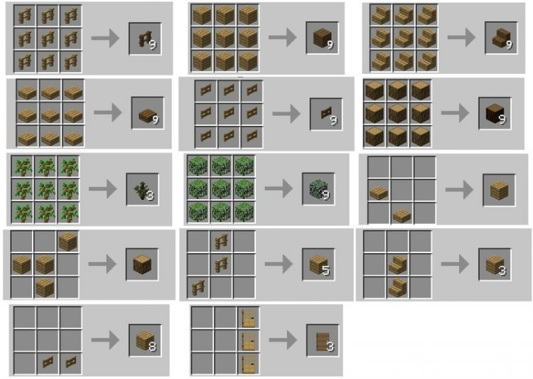 Wood Converter Mod for minecraft 3