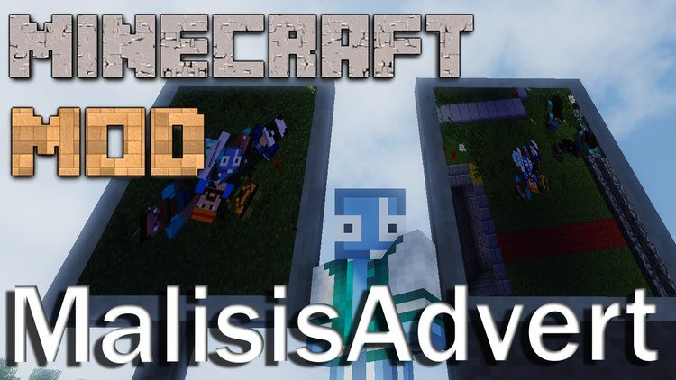 malisis advert mod for minecraft logo