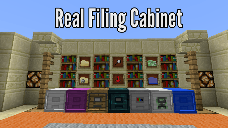 Real Filing Cabinet mod for minecraft logo