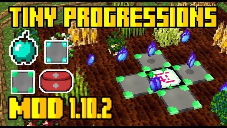 Tiny Progression mod for minecraft logo