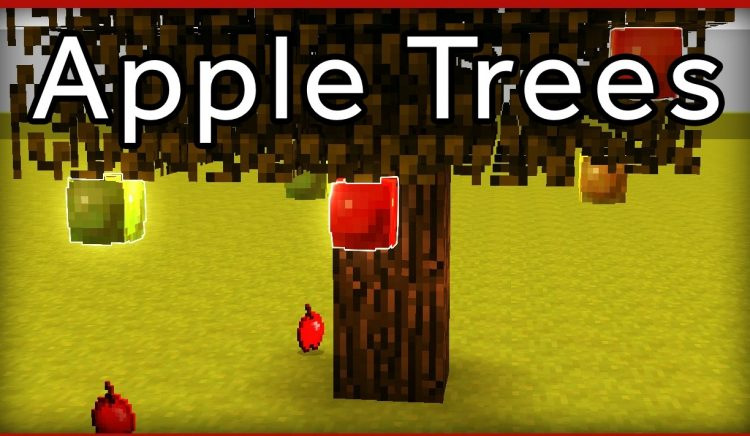 apple trees mod for minecraft logo