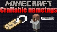craftable nametags mod for minecraft logo