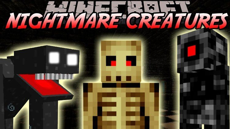 nightmares creatures mod for minecraft logo