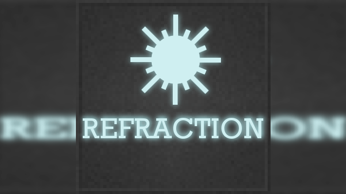refraction mod for minecraft logo