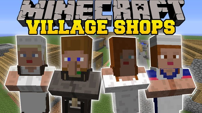 villager market mod for minecraft logo