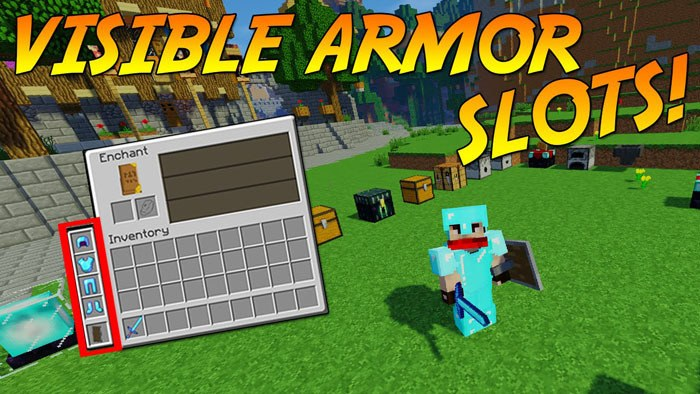 visible armor slots mod for minecraft logo
