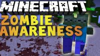 zombie awareness mod for minecraft logo