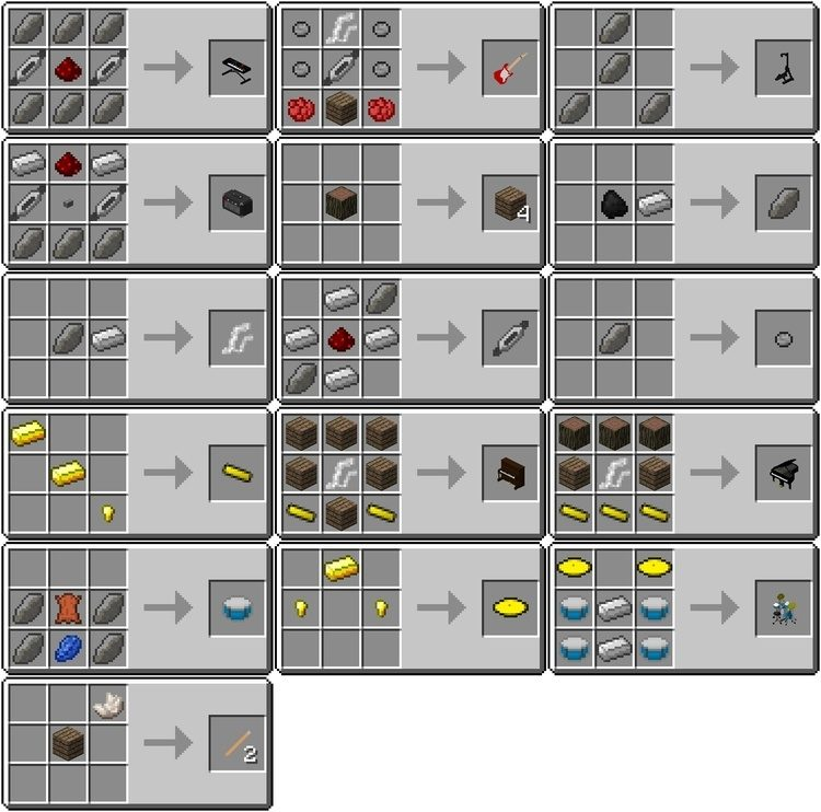 MusicCraft mod for minecraft 4