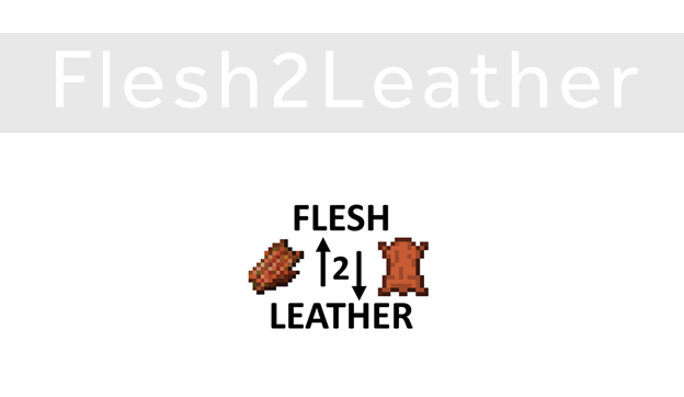 Flesh2Leather Mod for Minecraft Logo