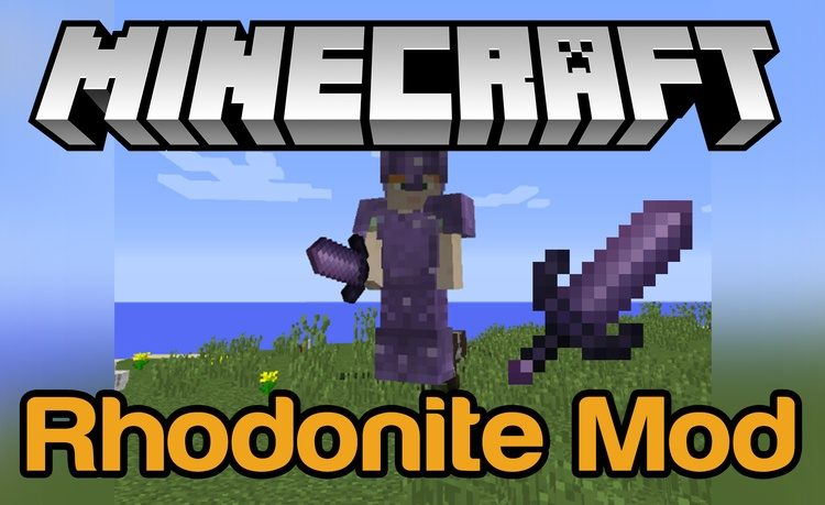 Rhodonite Tools & Armour Mod for minecraft logo