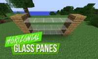 Horizontal Glass Panes Mod for minecraft logo