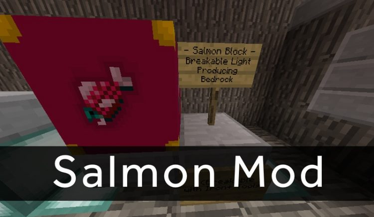 Salmon Mod for minecraft logo