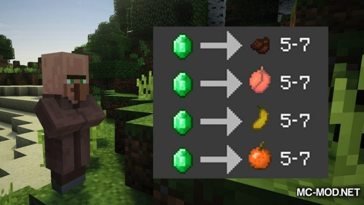 Simple Tree Drops Mod for Minecraft 2