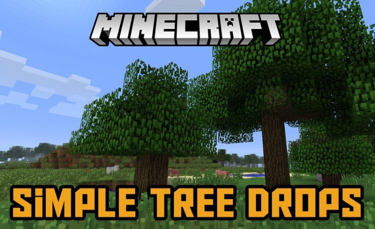 Simple Tree Drops Mod for Minecraft Logo