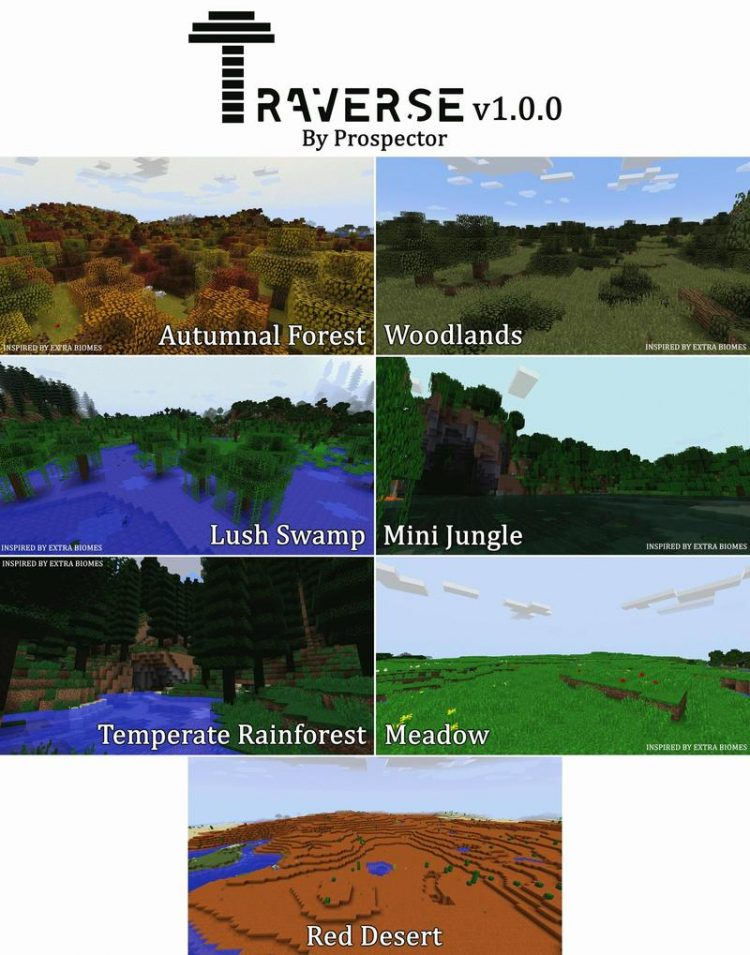 Traverse Mod for Minecraft 1