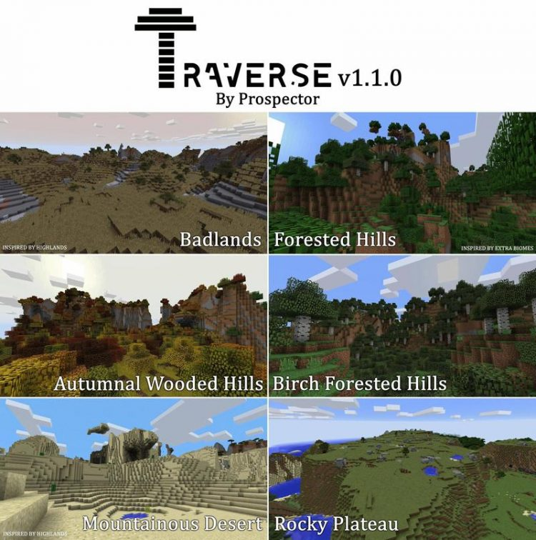 Traverse Mod for Minecraft 2