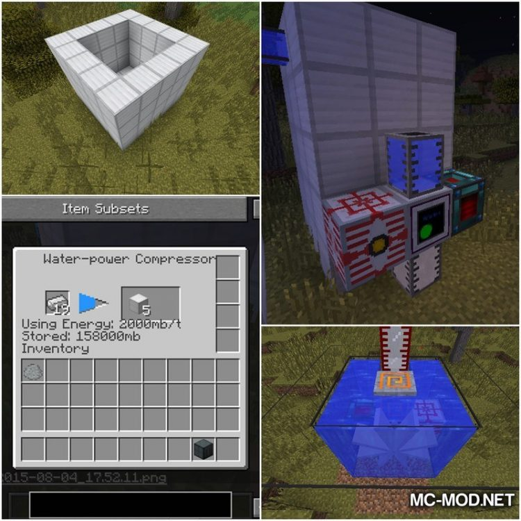 Water Power Mod for Minecraft 1