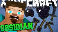 obsidian armor and tools mod for minecraft logo