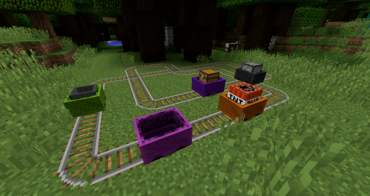 Charset Transport Carts and Rails mod for minecraft 06