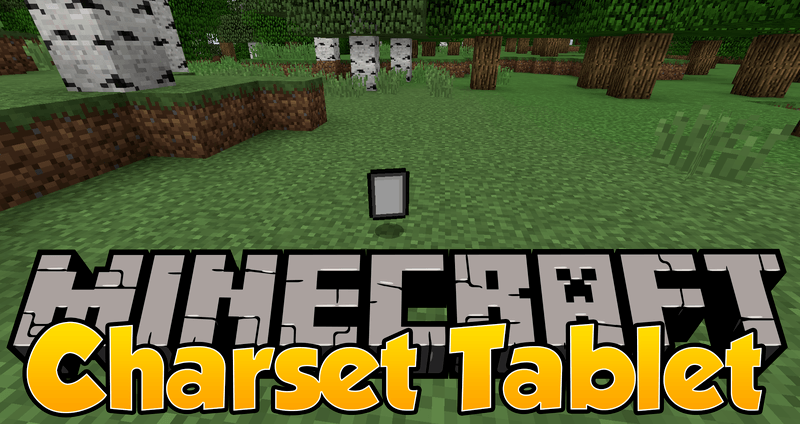 Charset Tablet mod for minecraft logo