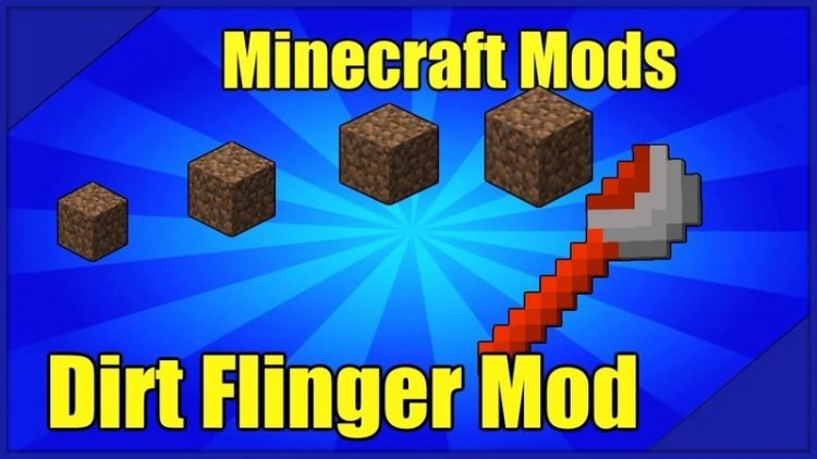 Dirt Flinger mod for minecraft logo