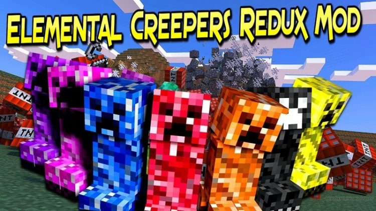 Elemental Creepers Redux mod for minecraft logo