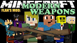 Flans Modern Weapons Pack Mod for minecraft logo