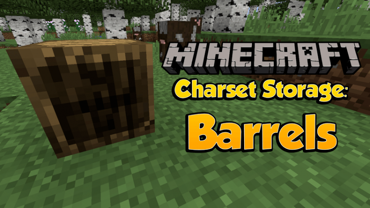 charset storage barrels mod for minecraft logo