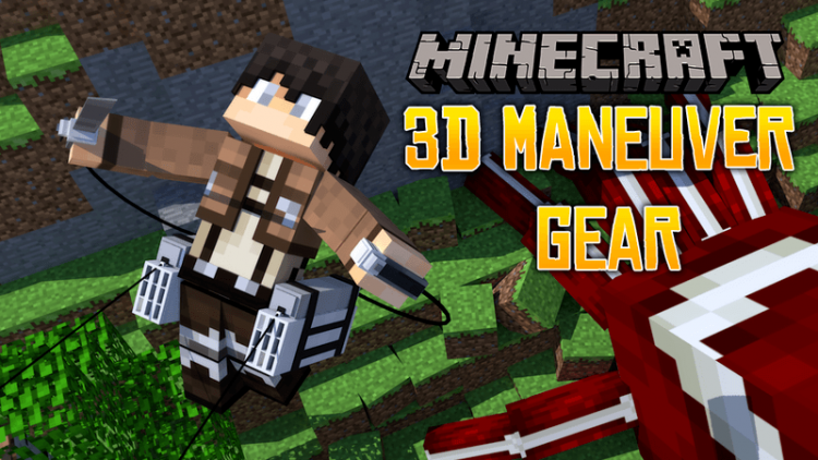 3D Maneuver Gear mod for minecraft logo