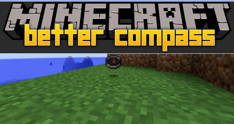 Better Compass mod for minecraft logo