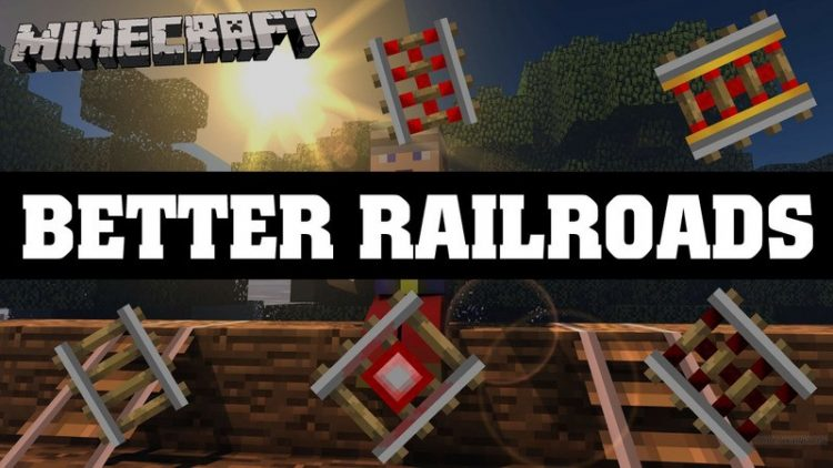 Better Railroads Mod for minecraft logo