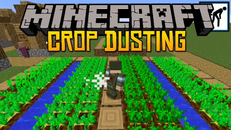 Crop Dusting Mod for minecraft logo